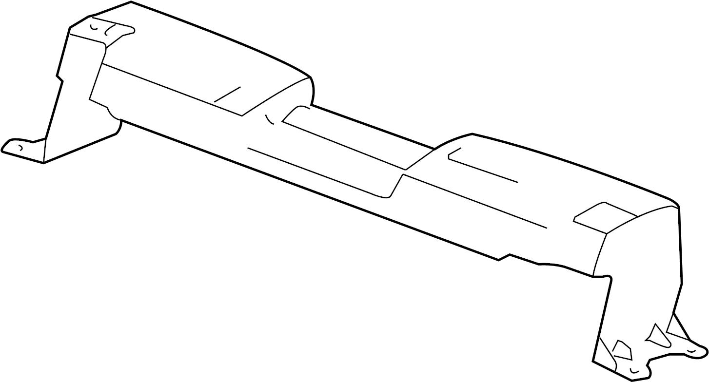 Chevrolet Corvette Radiator Support Panel  Front  Upper