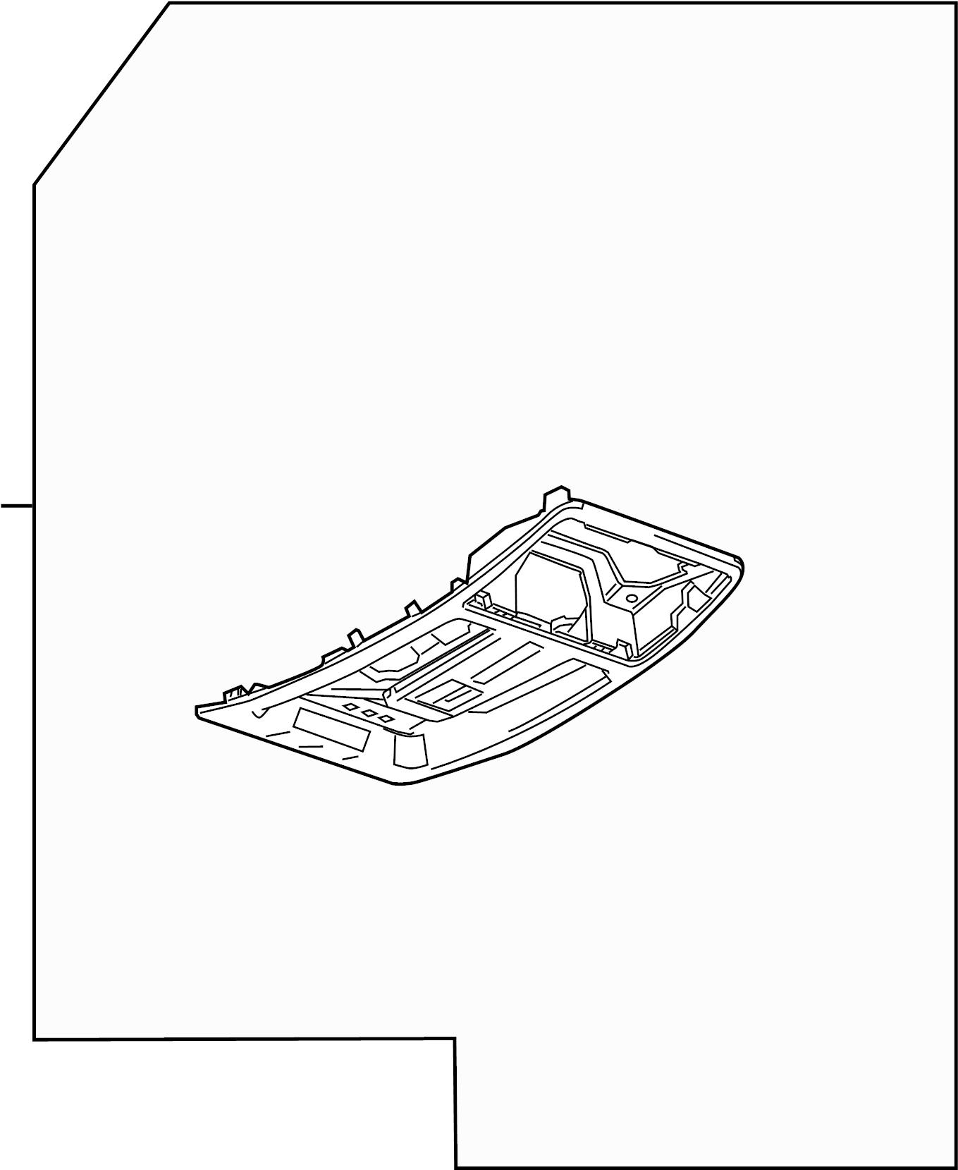Cadillac SRX Center Console (Upper). W/sunroof, W/o Garage