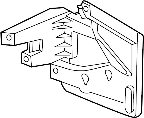 Cadillac Cts Fuse Box Bracket  Sedan  Trunk Compartment