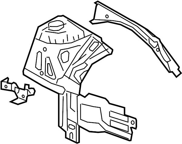 Chevrolet Cruze Fender Apron Assembly  Left