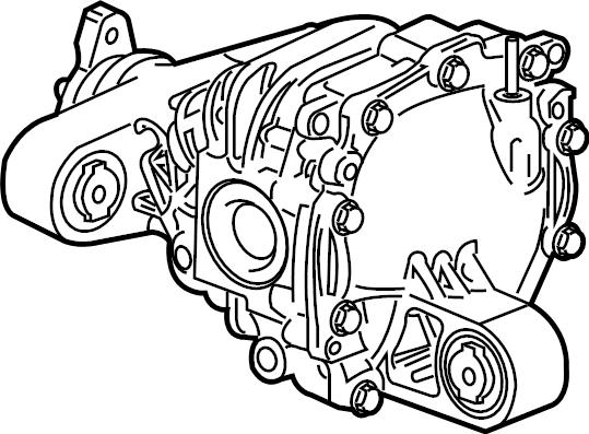 Chevrolet Camaro Differential  Axle  Rear  Trans