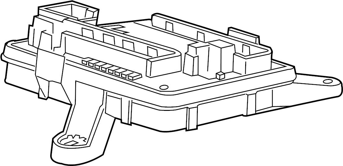 Chevrolet Camaro Fuse And Relay Center  Rear Body  W  O