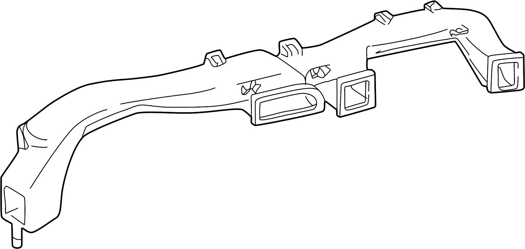 Chevrolet Corvette Instrument Panel Air Duct
