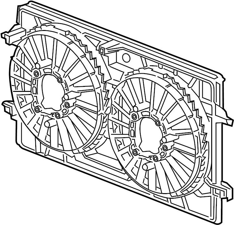 Chevrolet Malibu Shroud. Fan. Package - engine cooling ...