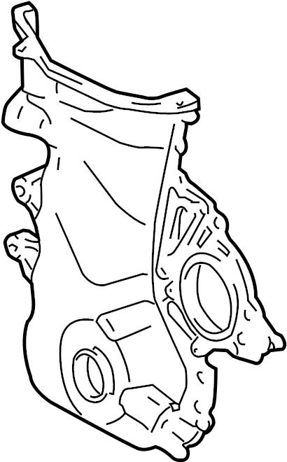 Chevrolet Prizm Engine Timing Cover  1 8 Liter W  O Ho