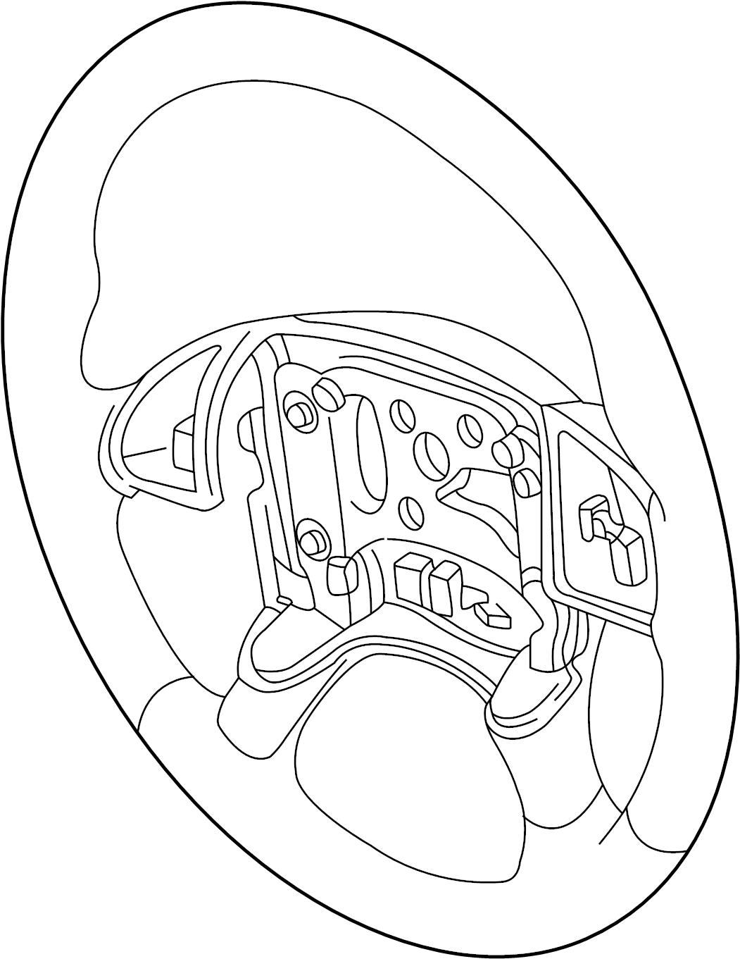 Pontiac Montana Steering Wheel  Trans Sport  Montana  Leather  W  Leather