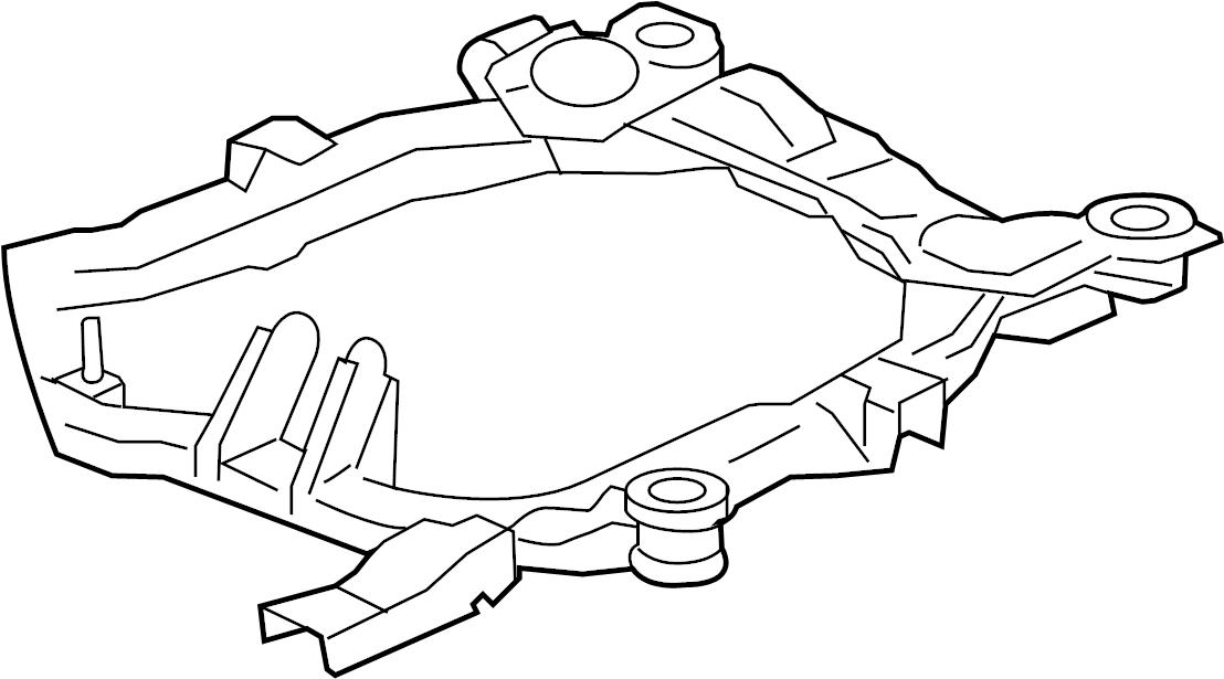chevrolet malibu engine cradle  liter  suspension  front