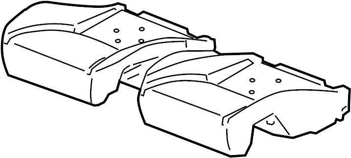 Pontiac G6 Seat Cushion Pad  Convertible  Rear