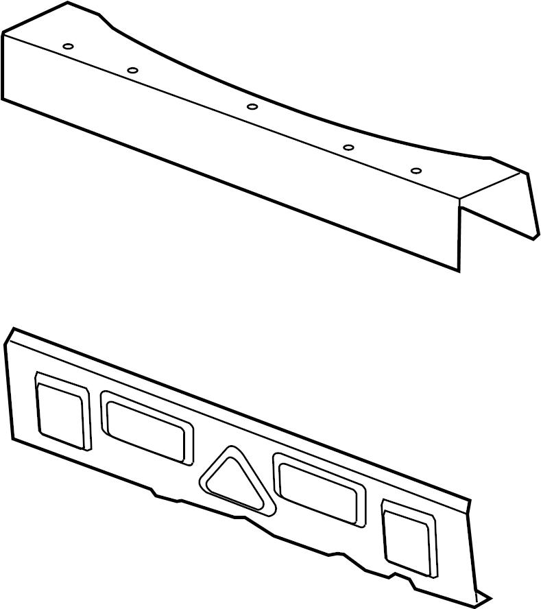 Pontiac G6 Rear Body Reinforcement  Convertible  Rear Seat