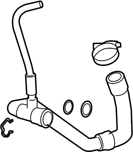 Gmc Savana 3500 Radiator Coolant Hose  Lower   6 6 Liter