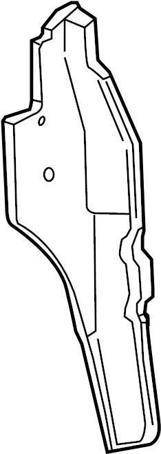 Chevrolet Tahoe Fender Splash Shield  Front   Suburban  W  O Off Road Pkg  Tahoe  W  O Z71