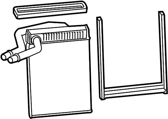 Gmc Sierra 2500 Hd Hvac Heater Core  Hvac Heater Core  6 0