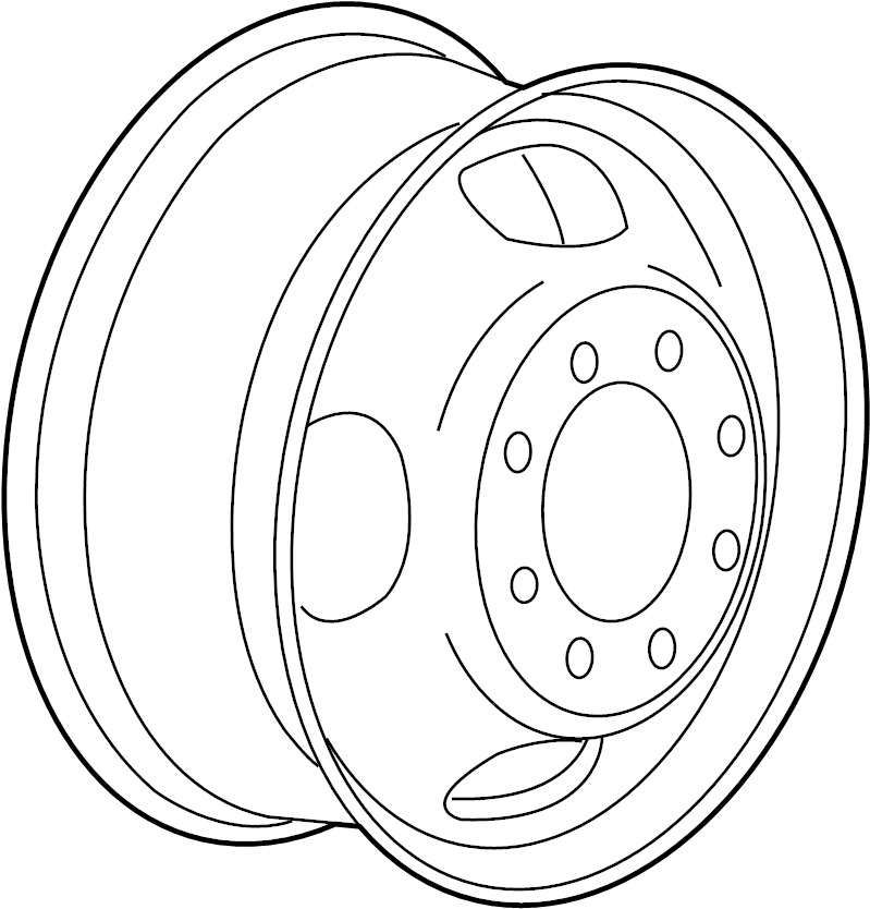 Gmc Sierra 3500 Hd Wheel  Rear  Inner  Inch
