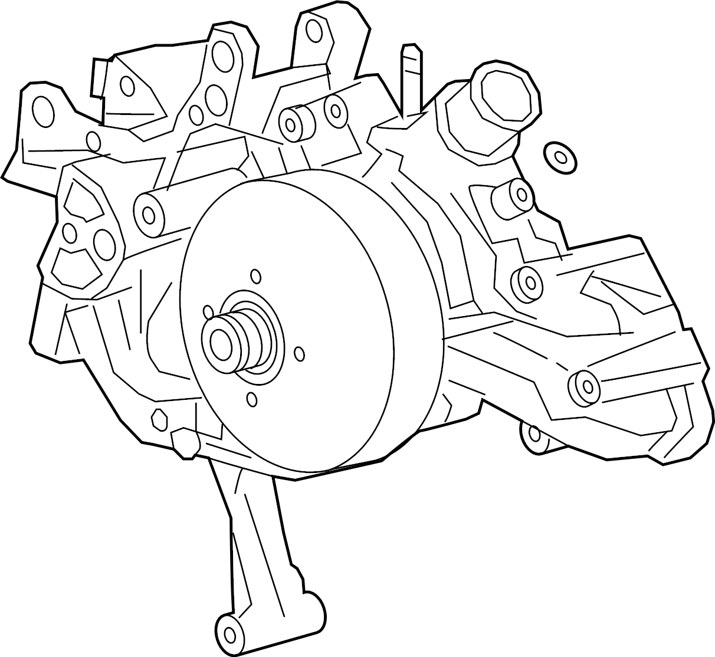 Chevrolet Express 3500 Water  Pump  Engine  2018