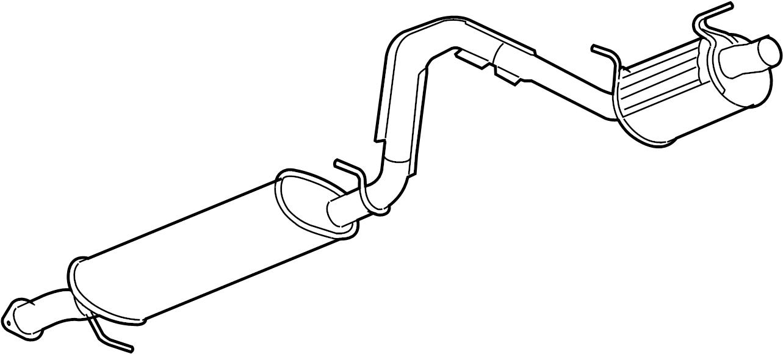 Gmc Envoy Exhaust Muffler  6 0 Liter  Envoy  Trailblazer  6 0l